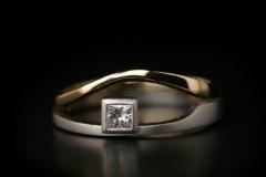 """""""Száj"""" gy. platina, arany 18k, és gyémánt"""