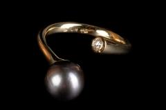 """""""Elágazó"""" gy. arany, tahiti (esetleg akoya) gyöngy és brill"""