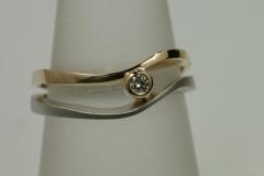 """brilles """"Párhuzamos"""" gyűrű platina és 18k arany"""
