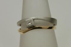 """princessz brilles """"Párhuzamos"""" gyűrű platina és 18k arany"""