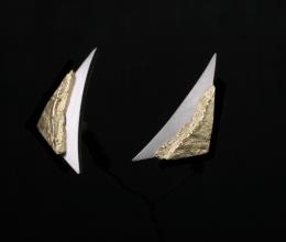 pala vitorlás fülbevaló Au18k/Platina 950