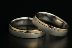 Pt/Au18k karika gyűrű