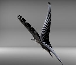 3D madár render