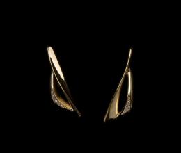 spi vitorlás fülbevaló 18k arany brillek